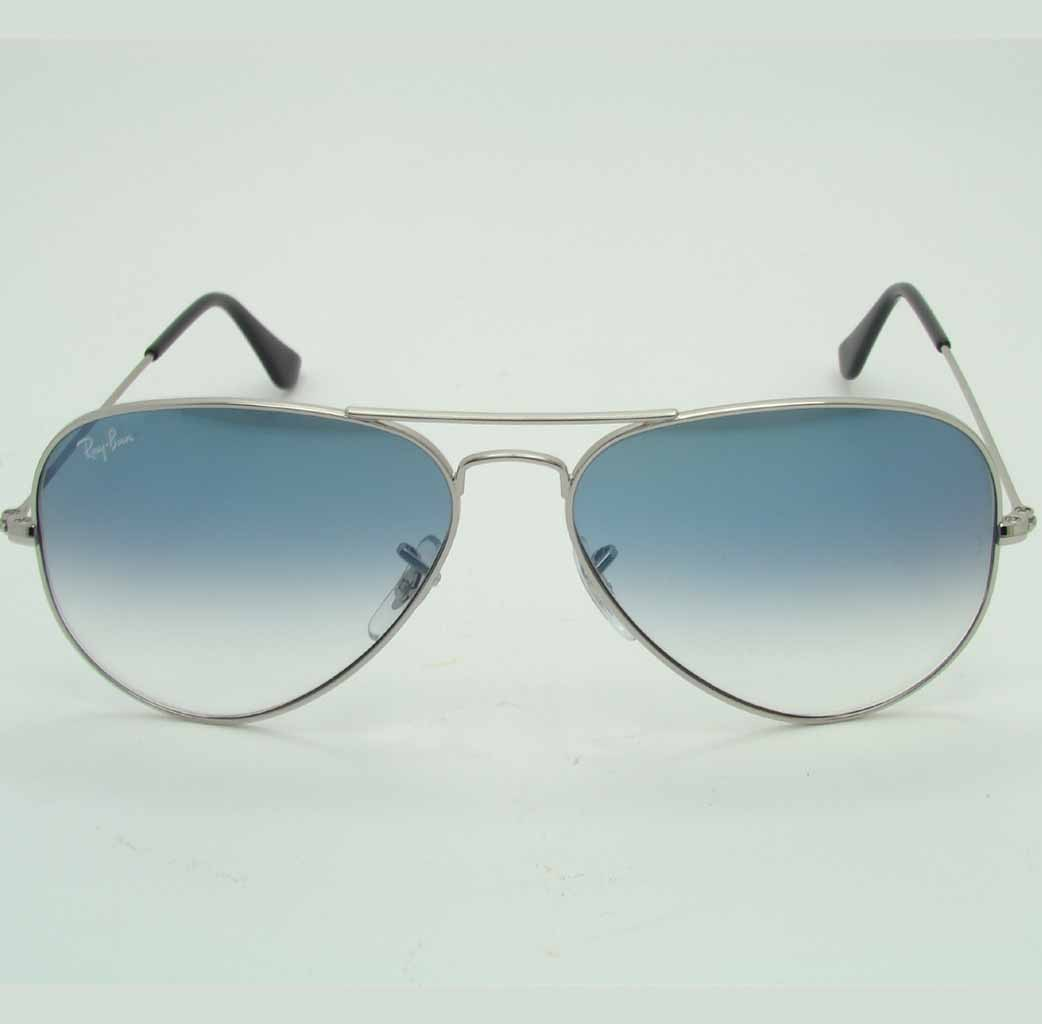 Ray ban rb3025 icons aviator large metal lenti azzurre - Ray ban aviator lenti a specchio ...