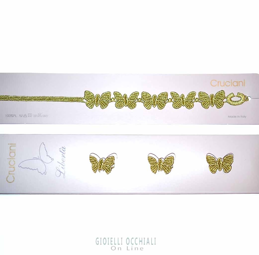 new arrival 28475 c5701 Cruciani Braccialetti Farfalla