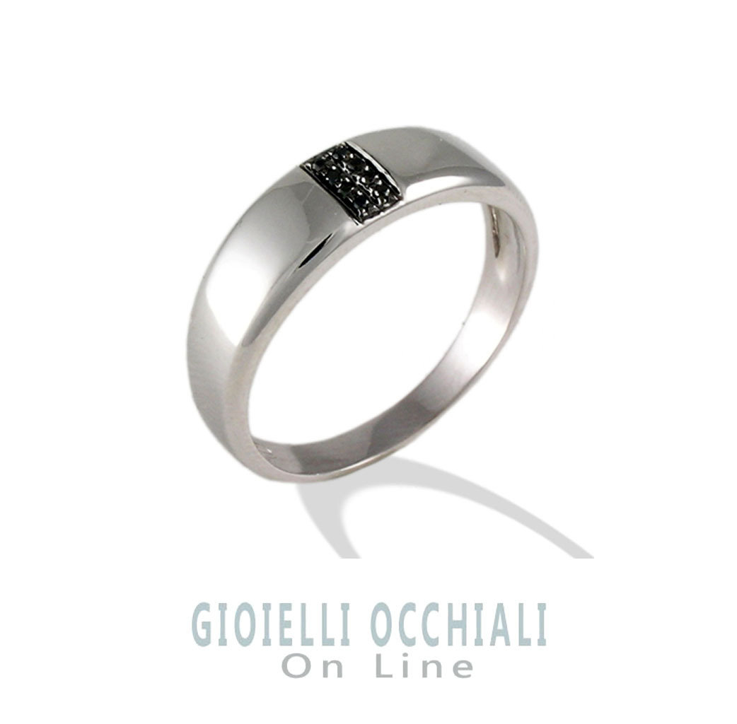 Mens ring with black diamonds