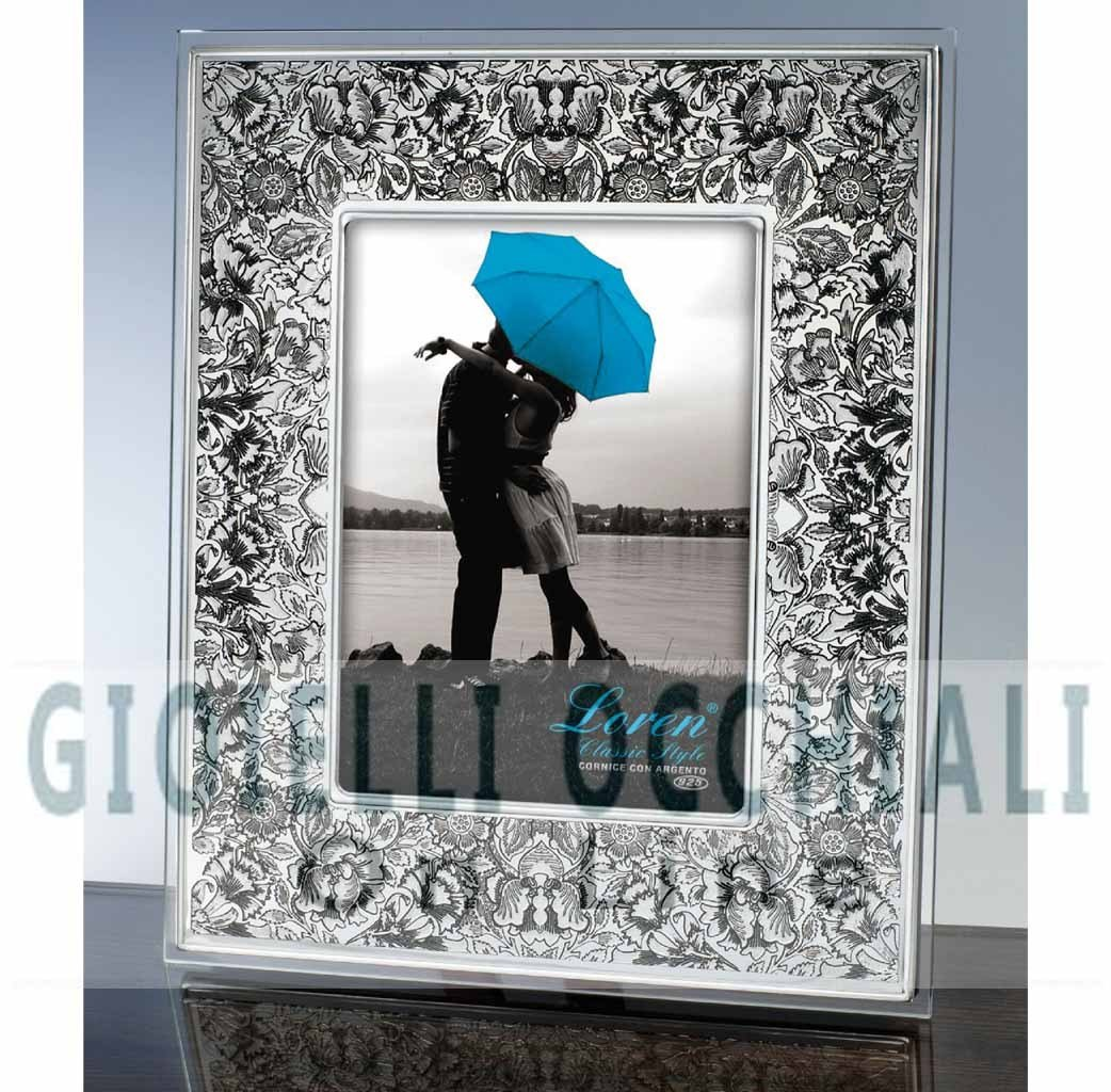 Cornici in argento portafoto in cristallo a torino e shop for Cornici foto 15x20