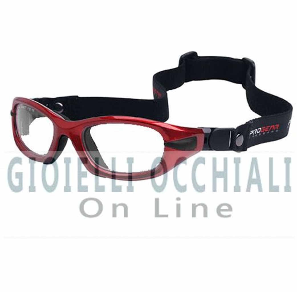 Progear Eyeguard Strap S, Rosso lucido Shiny Metallic Red