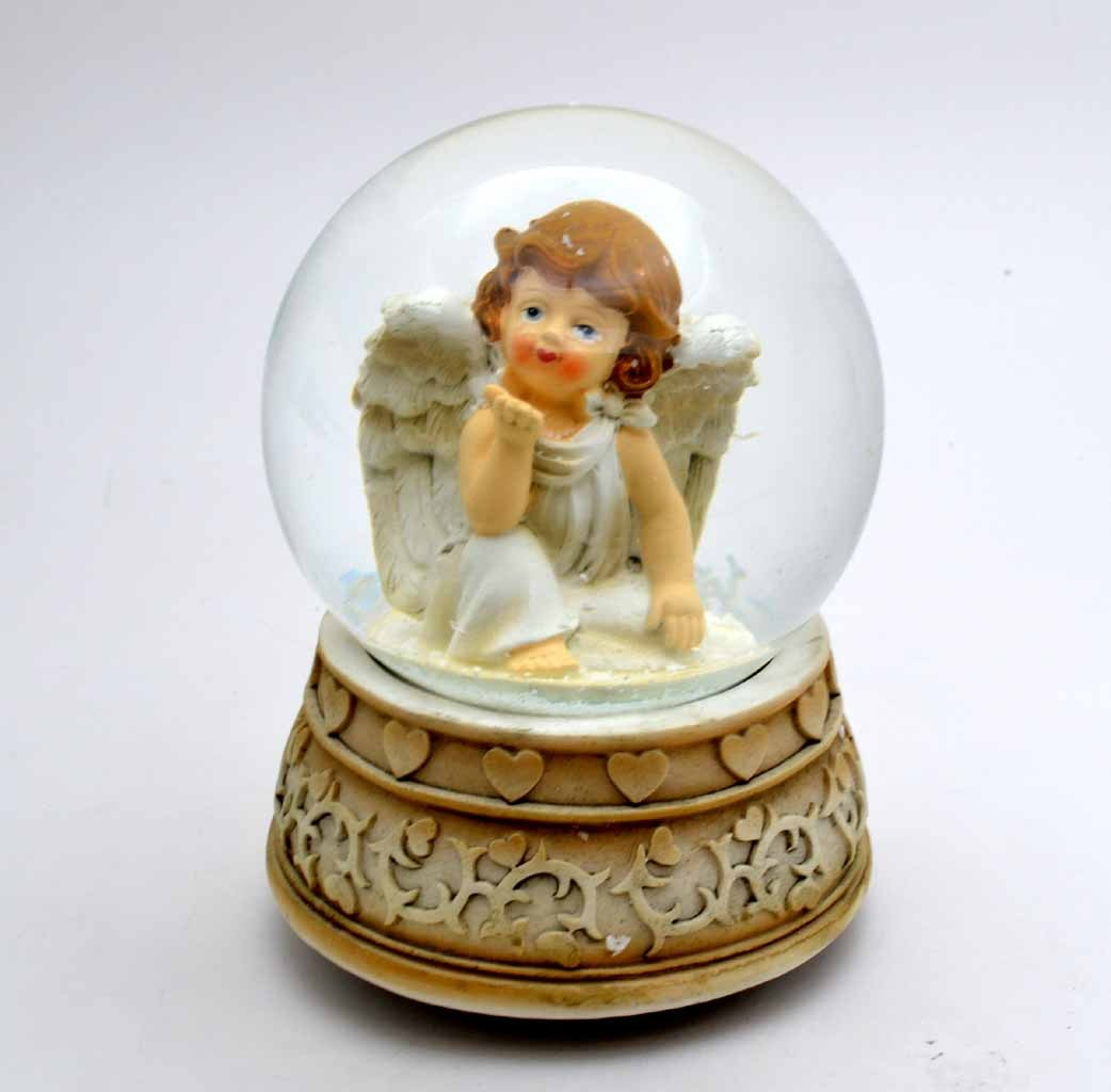 Snow Globes With Angel Christmas Musical Ornaments Buy Cheap