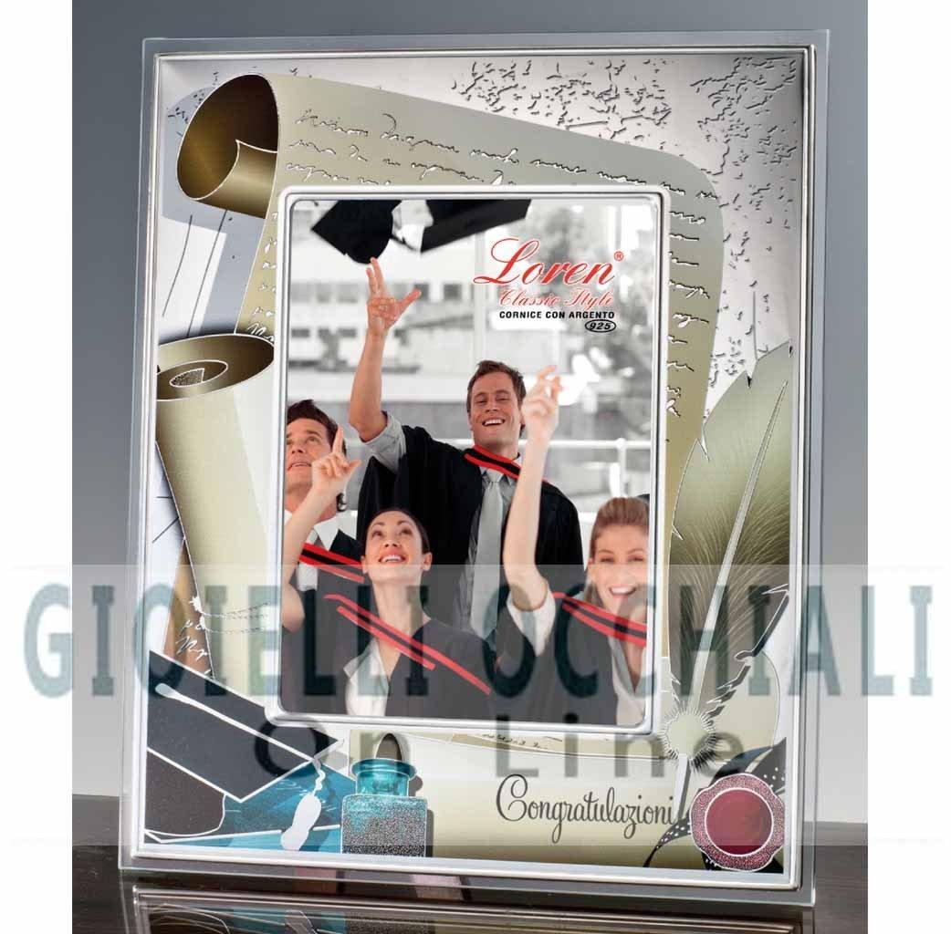 Cornici argento per laurea cornici per foto laurea prezzi for Foto cornici online