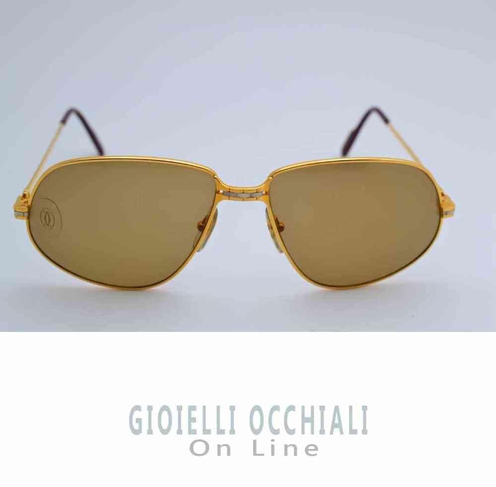 60e9dce8b2f0 Cartier Panthere Vintage Sunglasses. Vintage gold sunglasses