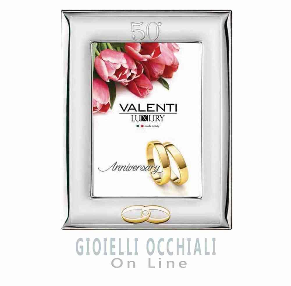 Cornice per 50 Anni di Matrimonio. Valenti Luxury Cornici argento
