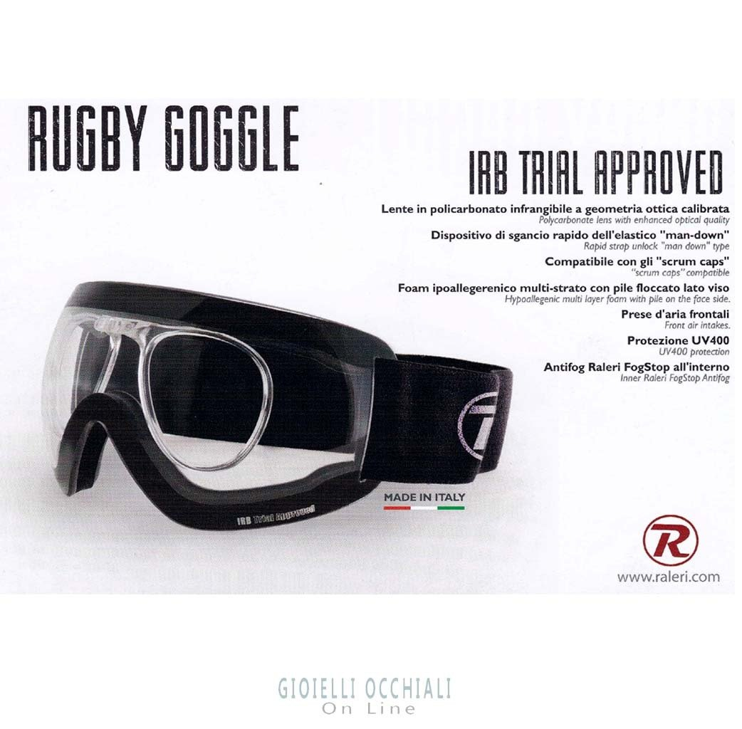 Rugby goggles Raleri Crystal Clear Lens