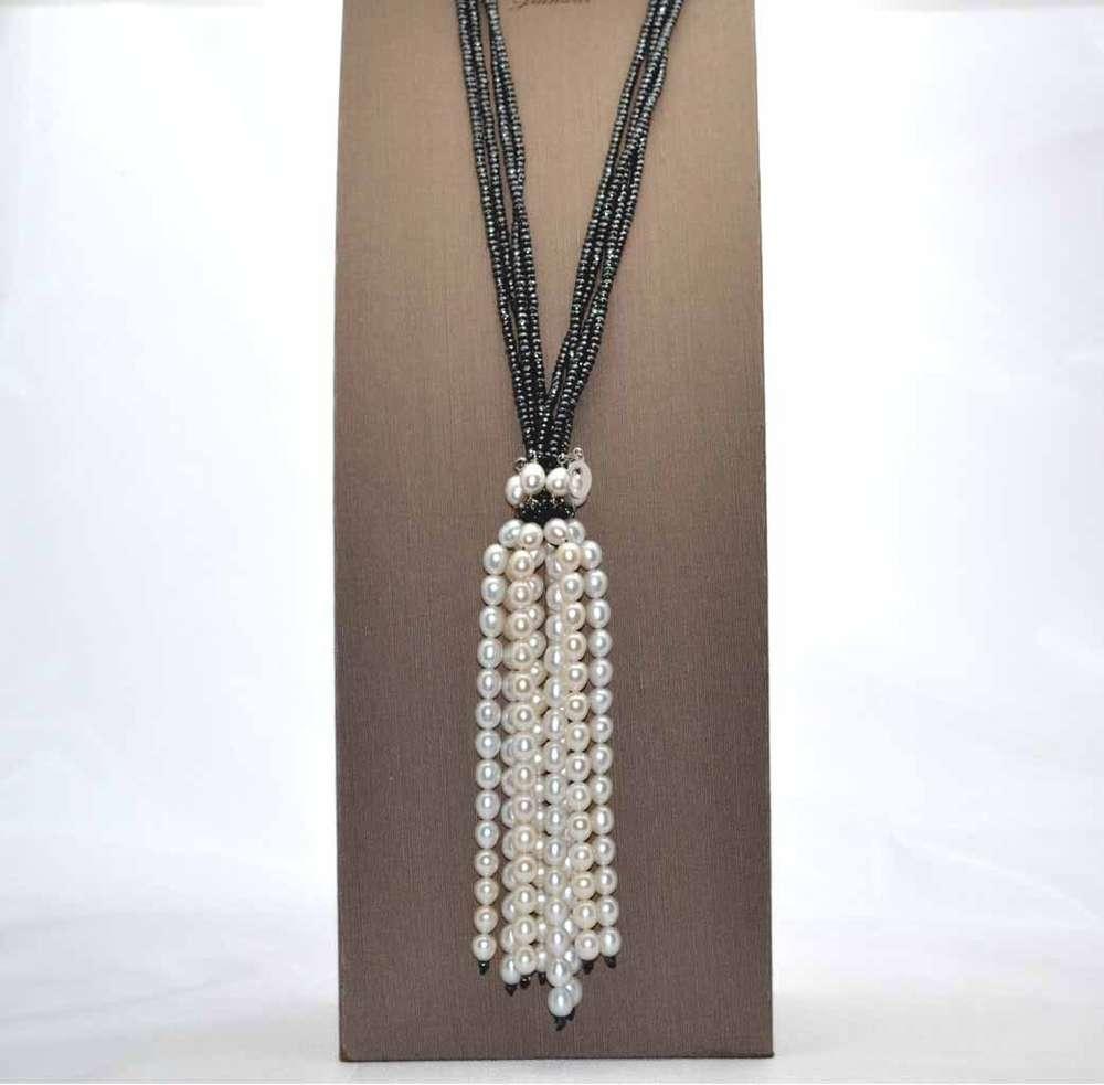 7b5c2b1fd4798e Collana perle e ematite, collane perle fantasia LeLune Gioielli