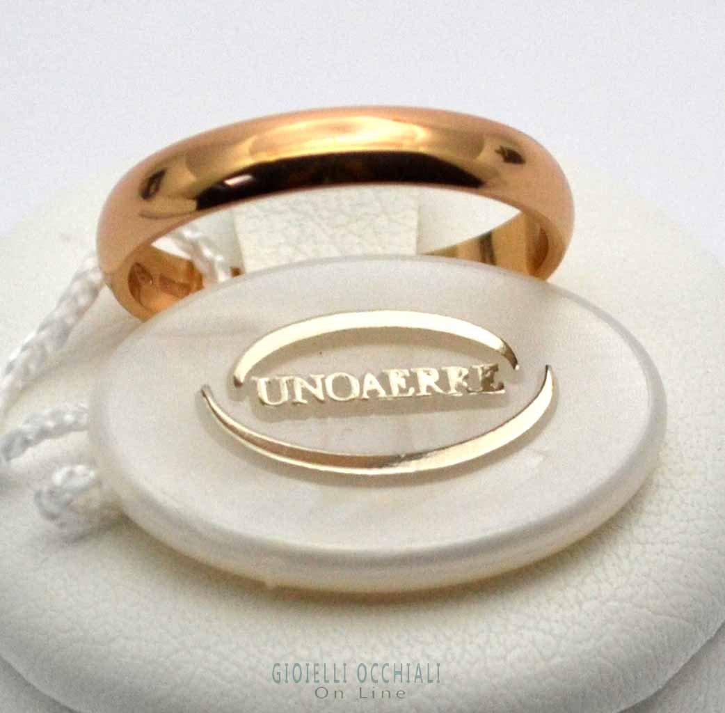 UNOAERRE fedi nuziali classiche oro giallo. Fedi matrimoniali.