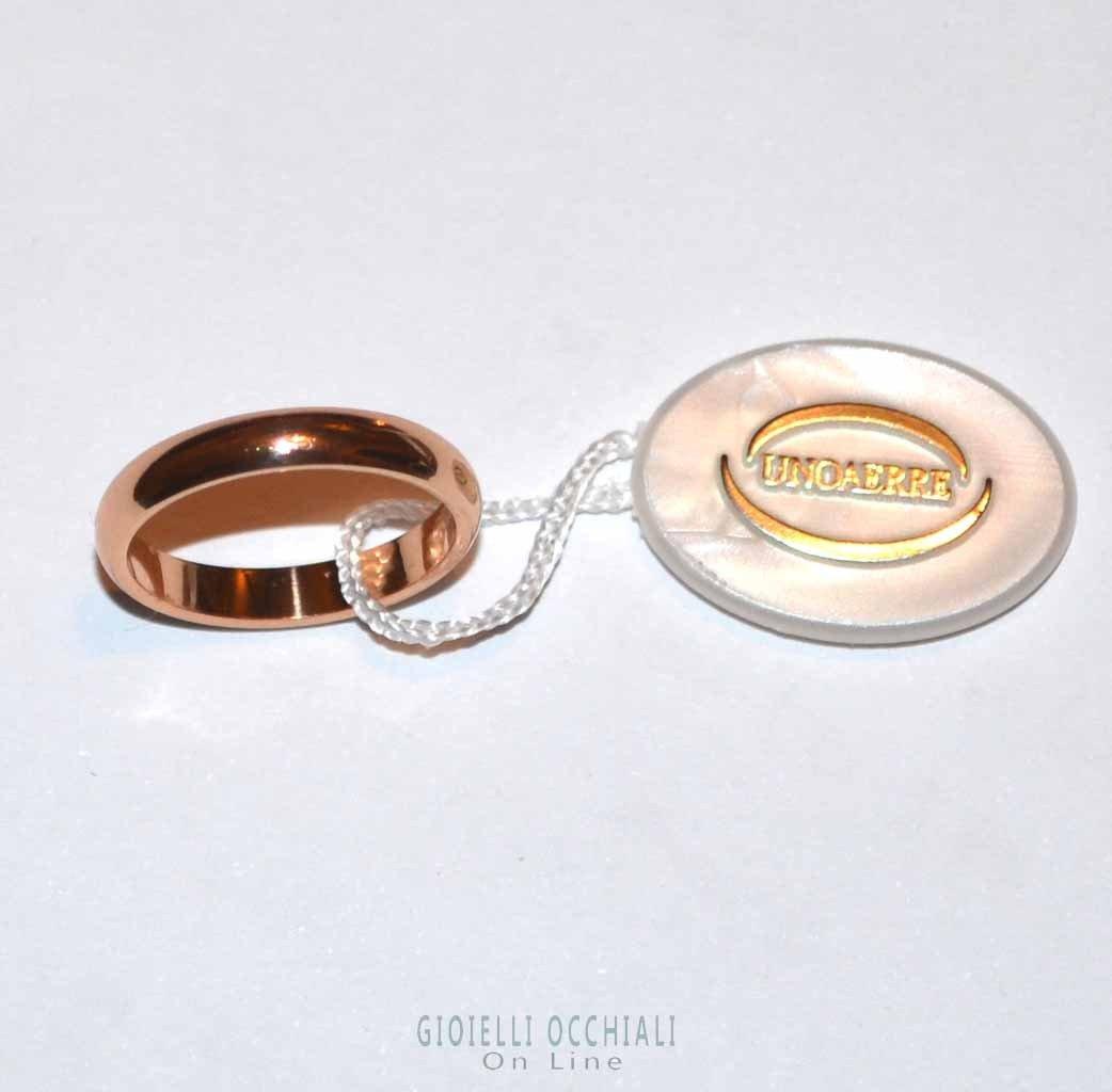 Fedi Matrimonio Uomo : Fedi nuziali unoaerre oro rosa migliore collezione