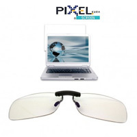 Clip on ribaltabile Pixel Lens lenti anti luce blu