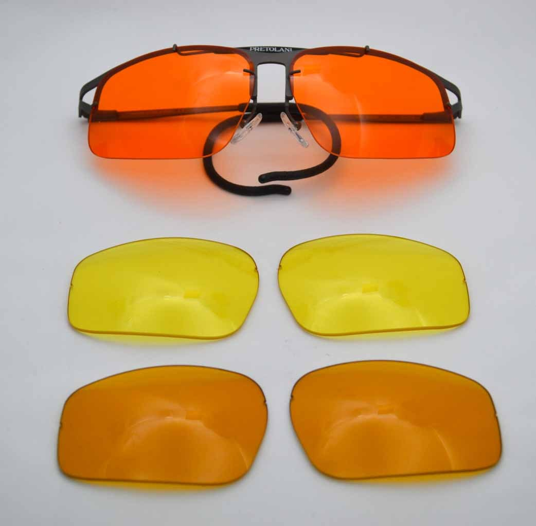 5b47fb3e17e SHOOTING GLASSES ALSO PRESCRIPTION. pretolani occhiali da tiro lenti gialle